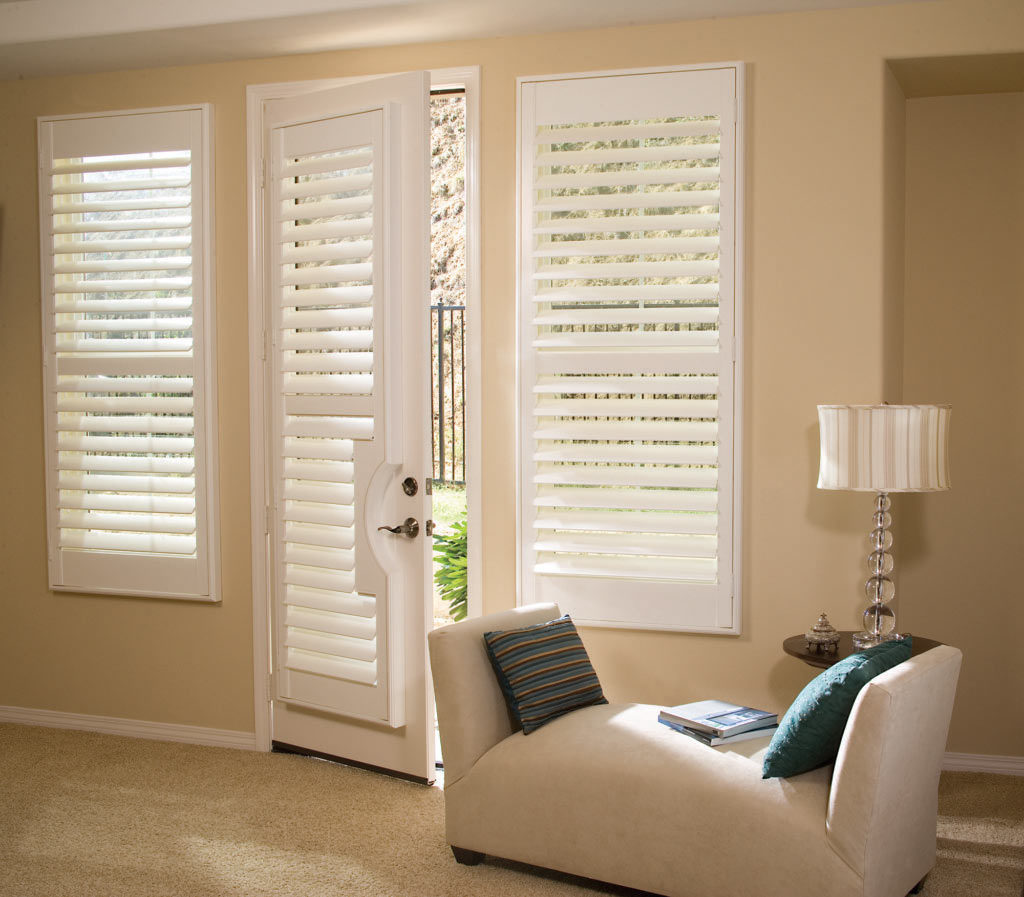 Custom Hardwood Vinyl Shutters for Home Living Room Windows Near Boise, Meridian & Eagle, Idaho (ID)