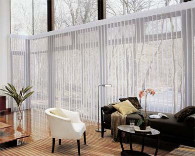 Custom Vertical Blinds Modern Style for Home Living Room Windows Near Boise & Eagle, Idaho (ID)