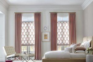 Design Studio™ Modern Roman Shades for Bedrooms Windows in Homes Near Boise & Meridian, Idaho (ID)