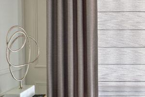 Design Studio™ Modern Roman Shades for Home Living Rooms Windows Near Boise & Meridian, Idaho (ID)