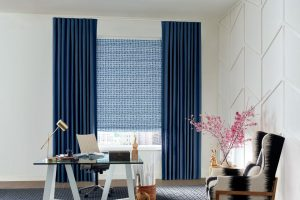 Design Studio™ Modern Roman Shades for Offices in Homes Near Boise, Meridian & Eagle, Idaho (ID)