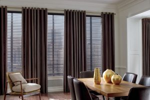Design Studio™ Parkland® Wood Blinds for Dining Rooms in Homes Near Boise & Meridian, Idaho (ID)