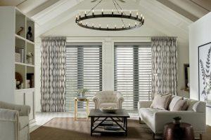 Design Studio™ Pirouette® Window Shadings for Living Rooms in Homes Near Boise & Meridian, Idaho (ID)