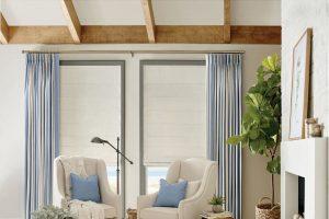 Design Studio™ Roman Shades for Living Rooms Boise, Meridian & Eagle, Idaho (ID), Light & Privacy