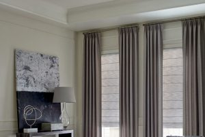 Design Studio™ Roman Shades with Room Darkening for Living Rooms Near Boise & Meridian Idaho (ID)